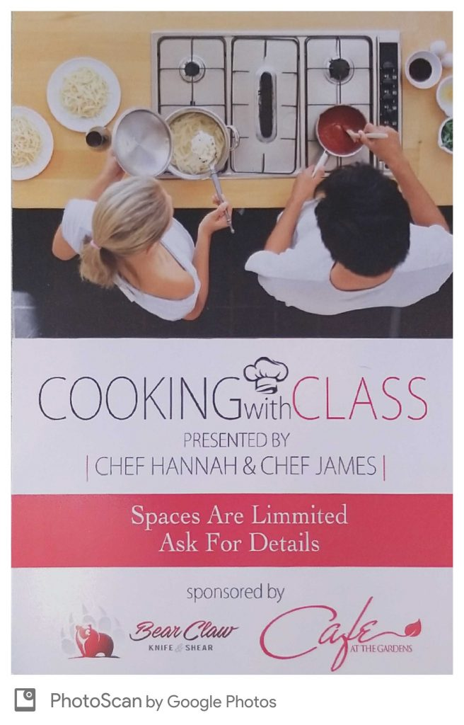 cooking class lineup may10